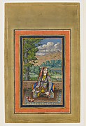"""Portrait of a Persian Lady"", Folio from the Davis Album"