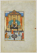 """Bahram Gur in the Sandal Palace on Thursday"", Folio from a Khamsa (Quintet) of Nizami"