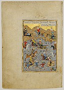 """Battle between Alexander and Darius"", Folio from a Khamsa (Quintet) of Nizami"