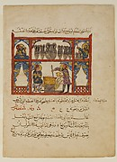 """Preparing Medicine from Honey"", Folio from a Dispersed Manuscript of an Arabic Translation of the Materia Medica of Dioscorides"