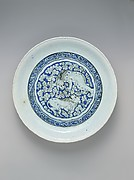 Dish with Two Fighting Lions