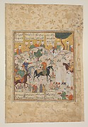 """Meeting of Bahram Gur with a Princess"", Folio from a Shahnama (Book of Kings)"