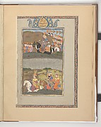 """Kai Khusrau Crosses the River Jayhun with Giv and Farangis"", Folio from a Shahnama (Book of Kings)"