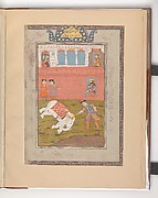 """Rustam Slays the White Elephant"", Folio from a Shahnama (Book of Kings)"