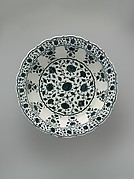Footed Dish with Foliate Rim in Imitation of Chinese Porcelain