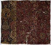 Fragment of a Carpet with Cartouche Border