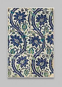Tile Panel with Wavy-vine Design