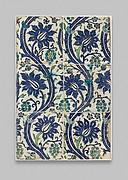 Tile Panel with Wavy-vine Design