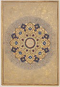 """Rosette Bearing the Names and Titles of Shah Jahan"", Folio from the Shah Jahan Album"
