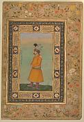 """Portrait of Muhammad Ali Baig"", Folio from the Shah Jahan Album"