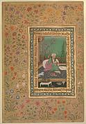 """Haji Husain Bukhari"", Folio from the Shah Jahan Album"