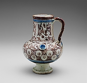 "Ewer Inscribed with ""al-'izz"" (""Glory"") in Floriated Kufic on its Neck"