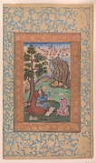 Young Prince and Mentor Sitting in Landscape
