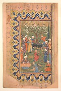 """""""Preparation For a Noon-Day Meal,"""" Folio from a Divan (Collected Works) of Mir 'Ali Shir Nava'i"""