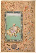 """The Emperor Shah Jahan with his Son Dara Shikoh"", Folio from the Shah Jahan Album"