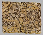 Fragment with a garden scene