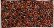 Fragment of a Carpet with Quatrefoil Design