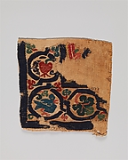 Fragment of a Tabula (Square) with Birds and Pomegranates in a Vine Scroll