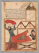 """The Man who Pretends to be Asleep While the Thief Enters his House Becomes Drowsy and Really Falls Asleep"", Folio from a Kalila wa Dimna"