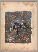 """The Ox Shanzabeh Left Behind, Grazing in the Territory of the Lion King"", Folio from a Kalila wa Dimna"