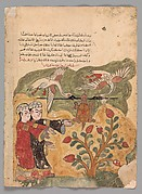 """The Flight of the Tortoise"", Folio from a Kalila wa Dimna"