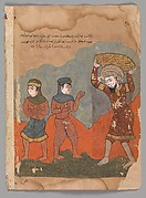 """""""The Captive Peasant with his Two Wives"""", Folio from a Kalila wa Dimna"""