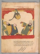 """The Ascetic and his Guest with the Mouse Steal the Ascetic's Food"", Folio from a Kalila wa Dimna"