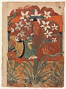 """""""The Ascetic Strikes a Jar of Honey and Oil with his Staff While Daydreaming"""", Folio from a Kalila wa Dimna"""