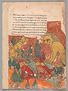 """""""The Lioness Advises her Son"""", Folio from a Kalila wa Dimna"""