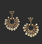 Crescent shaped Pearl Earrings
