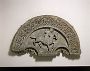 Tympanum with a Horse and Rider