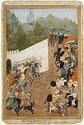 """The Battle of Shahbarghan"", Folio from a Padshahnama (Chronicle of the Emperor)"