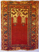 Prayer Rug with Triple Arch Design
