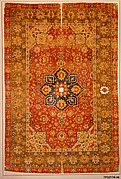 Silk &#39;Kashan&#39; Carpet