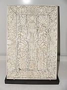Ivory Panel from a Cabinet with Flowers and Birds