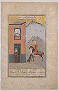 """Khusrau Arriving at Shirin's Palace"", Folio from a Khamsa (Quintet) of Amir Khusrau Dihlavi"