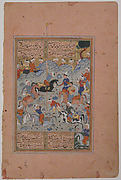 """""""A Contest of Skill in Archery on Horseback"""", Folio from a Divan (Collected Works) of Mir 'Ali Shir Nava'i"""