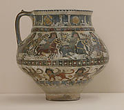 Ewer with Horsemen and Sphinxes