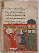 """The Merchant and his Accomplice Carry Away Goods"", Folio from a Kalila wa Dimna"