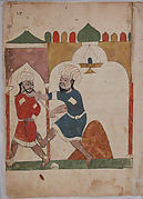 """The Poor Man Apprehends the Thief"", Folio from a Kalila wa Dimna"