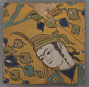 Tile Fragment of a Garden Scene Panel