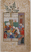 """The Great Abu Sa'ud Teaching Law"", Folio from a Divan of Mahmud `Abd-al Baqi"