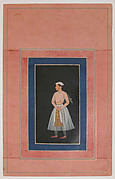 """Portrait of a Prince (Shah Jahan ?)"", Folio from the Davis Album"