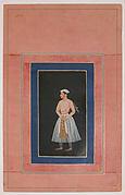 """Portrait of a Prince (Shah Jahan ?)"", Folio from the Davis Album"