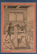"""Copper Plate Printers at Work"", Folio from the Davis Album"