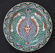 Dish with Scale-pattern Design