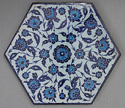 Hexagonal Tile with Floral Design