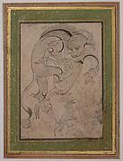 Lion Attacking an Antelope