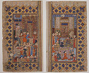"""Enthronement of a Young Prince (Shapur II?)"", Folio from a Yusuf and Zulaikha of Jami"