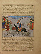 """Bahman Taking Revenge on the Sistanians""  Folio from the Majma al-Tavarikh (Compendium of Histories) of Hafiz-i Abru"